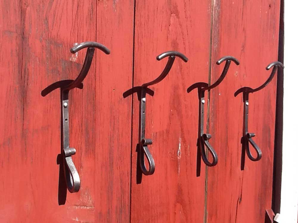 custom iron hat hooks