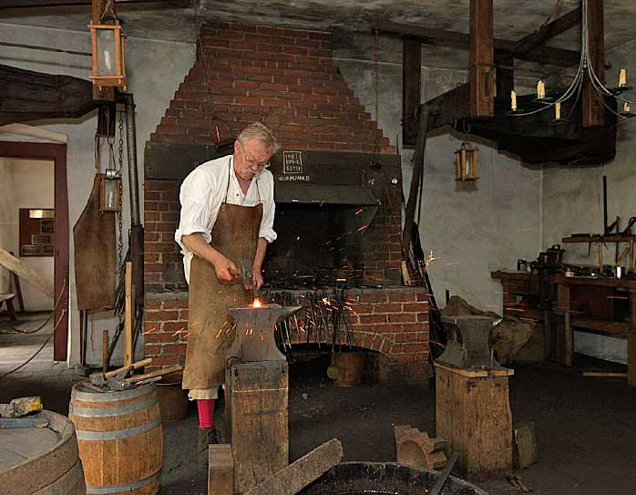 historic blacksmithing at Bethlehem