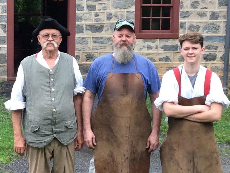 3 generations ed land blacksmith